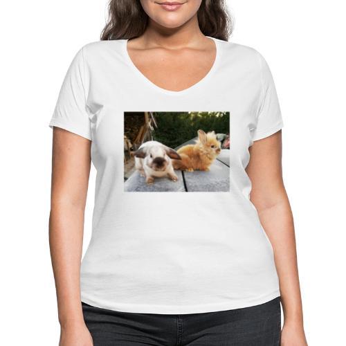 Nouche en Ninou - Vrouwen bio T-shirt met V-hals van Stanley & Stella