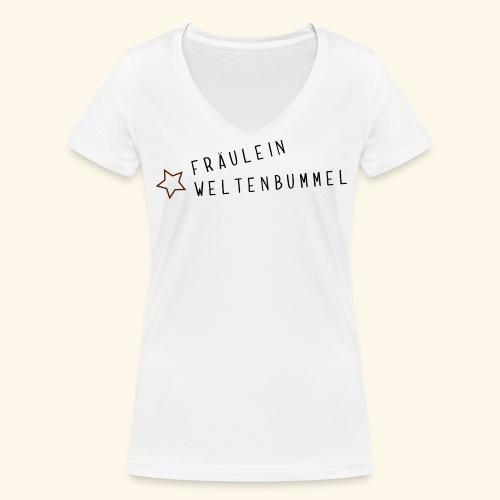 Fräulein Weltenbummel - Frauen Bio-T-Shirt mit V-Ausschnitt von Stanley & Stella
