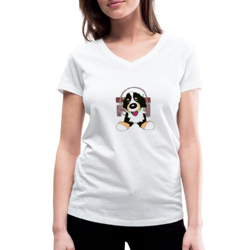 Bernerdrag - Ekologisk T-shirt med V-ringning dam från Stanley & Stella