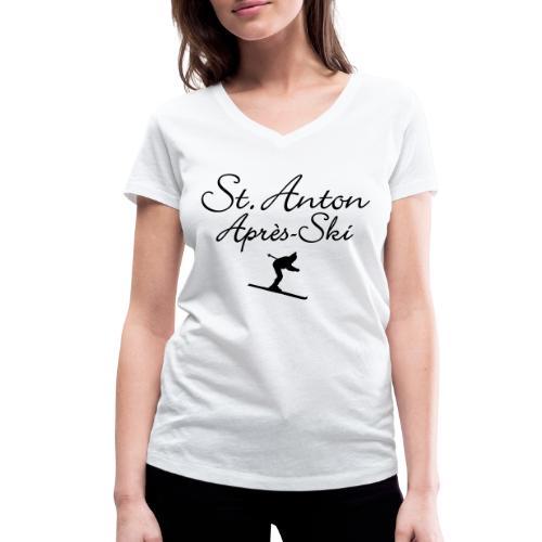 St. Anton Après-Ski Skifahrer - Frauen Bio-T-Shirt mit V-Ausschnitt von Stanley & Stella