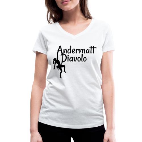 Andermatt Diavolo Uri Geschenkidee - Frauen Bio-T-Shirt mit V-Ausschnitt von Stanley & Stella