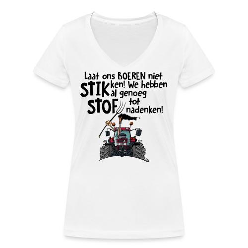 0505 stikstof - Vrouwen bio T-shirt met V-hals van Stanley & Stella