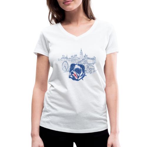 London - Ekologisk T-shirt med V-ringning dam från Stanley & Stella