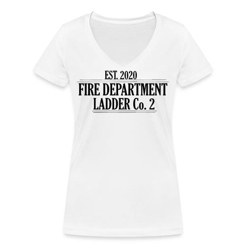 Fire Department - Ladder Co.2 - Økologisk Stanley & Stella T-shirt med V-udskæring til damer
