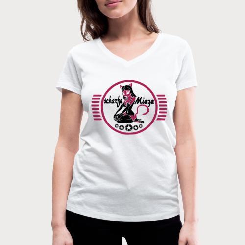 scharfe mieze - Frauen Bio-T-Shirt mit V-Ausschnitt von Stanley & Stella