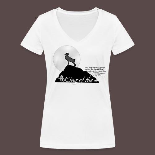 Muflone Halftone - T-shirt ecologica da donna con scollo a V di Stanley & Stella