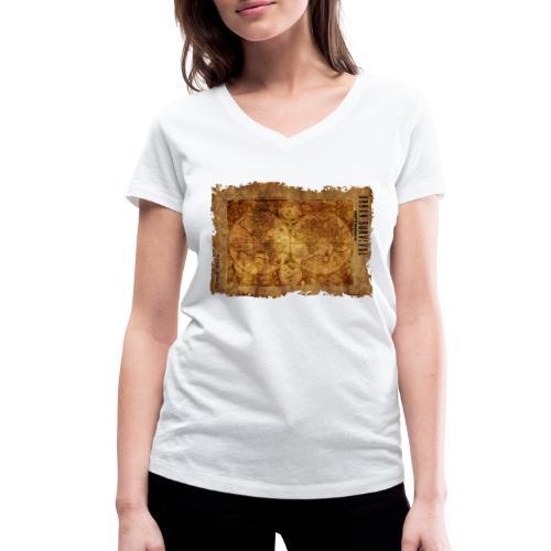 map of the world 2241469 1920 - Frauen Bio-T-Shirt mit V-Ausschnitt von Stanley & Stella