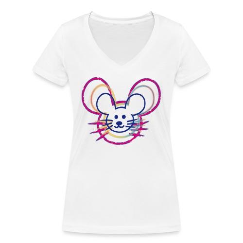 kleines Mausgesicht/Mäuse - Frauen Bio-T-Shirt mit V-Ausschnitt von Stanley & Stella