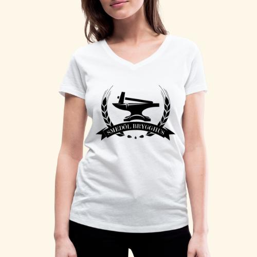 Smedöl Brygghus Logga Svart - Ekologisk T-shirt med V-ringning dam från Stanley & Stella