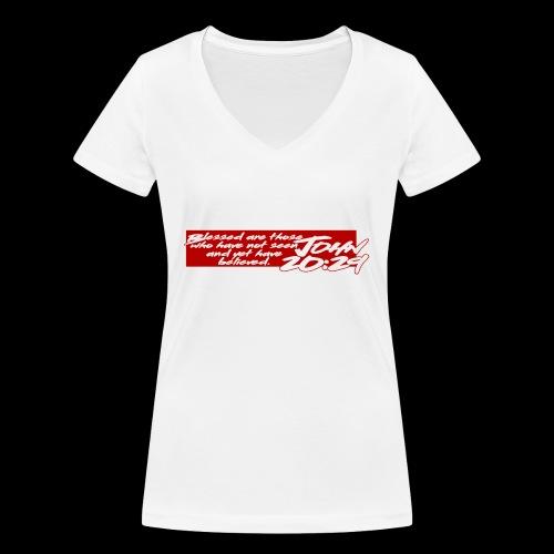 OVER REASON 2 - Camiseta ecológica mujer con cuello de pico de Stanley & Stella