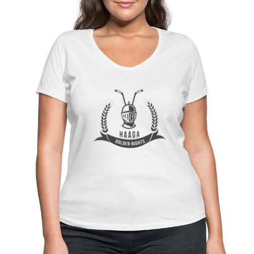 Haaga Golden Nights - Stanley & Stellan naisten v-aukkoinen luomu-T-paita