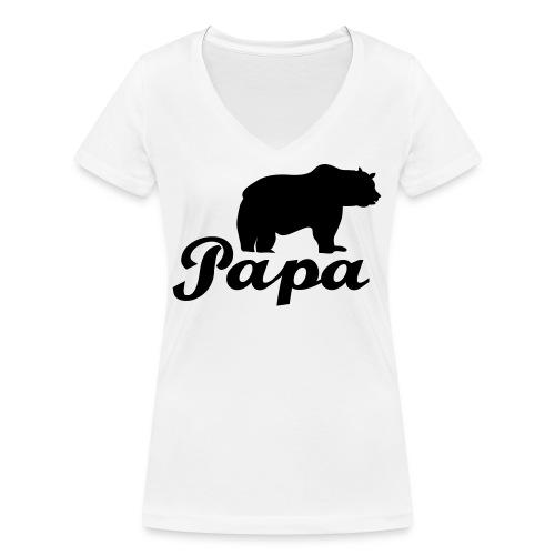 papa beer - Vrouwen bio T-shirt met V-hals van Stanley & Stella