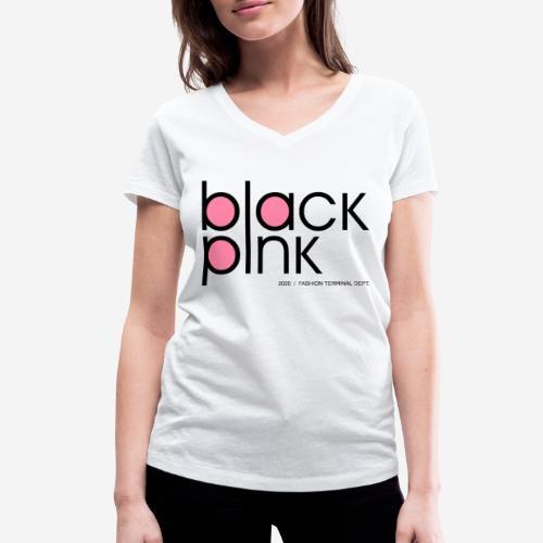 schwarzer rosa Modestil - Frauen Bio-T-Shirt mit V-Ausschnitt von Stanley & Stella