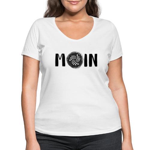 MOIN IOTA | BTC, Kryptowährung | IOTA Shirt - Frauen Bio-T-Shirt mit V-Ausschnitt von Stanley & Stella