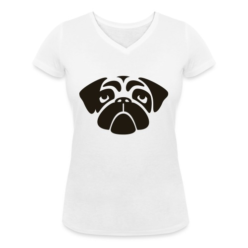 Mops - Frauen Bio-T-Shirt mit V-Ausschnitt von Stanley & Stella