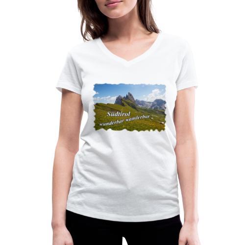 Südtirol - wunderbar wanderbar - Frauen Bio-T-Shirt mit V-Ausschnitt von Stanley & Stella