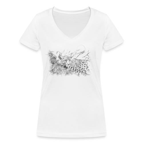 La panthère dans l'arbre - T-shirt bio col V Stanley & Stella Femme