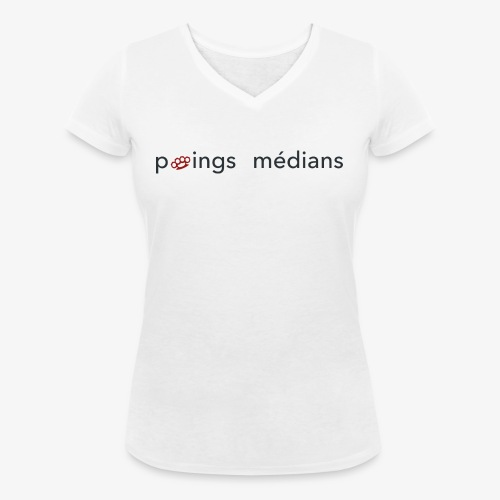 Poings médians - T-shirt bio col V Stanley & Stella Femme