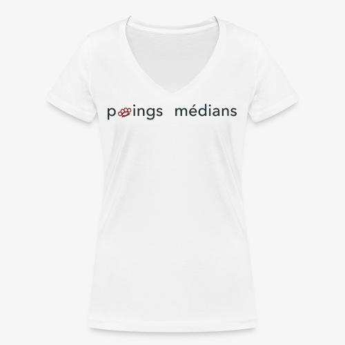 Poings médians - T-shirt bio col V Stanley & Stella Femme