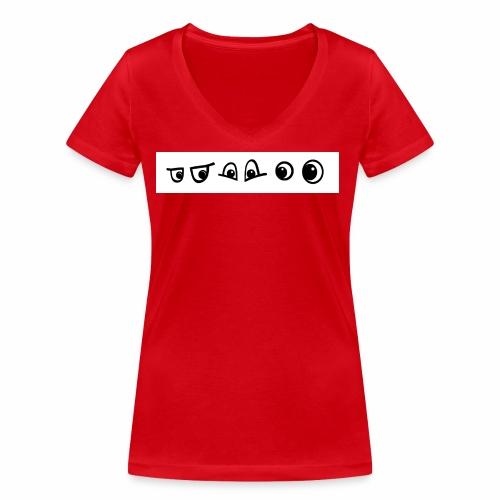 graffiti caracter augen - Frauen Bio-T-Shirt mit V-Ausschnitt von Stanley & Stella
