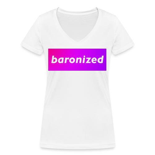 baronized - Frauen Bio-T-Shirt mit V-Ausschnitt von Stanley & Stella