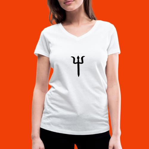 TRIDENTE - Camiseta ecológica mujer con cuello de pico de Stanley & Stella