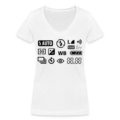 Fotograf - Frauen Bio-T-Shirt mit V-Ausschnitt von Stanley & Stella