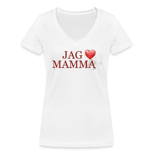 Jag älskar mamma - Ekologisk T-shirt med V-ringning dam från Stanley & Stella