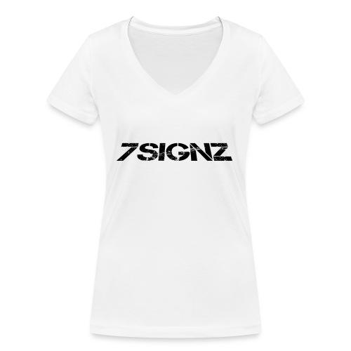 7SignZ Logo - Frauen Bio-T-Shirt mit V-Ausschnitt von Stanley & Stella