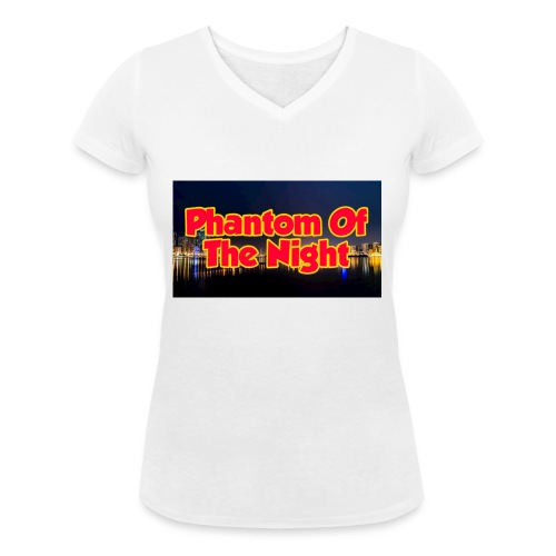 Phantom Of The Night Official Wear - Women's Organic V-Neck T-Shirt by Stanley & Stella