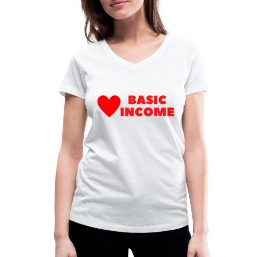 basic income red trans - Vrouwen bio T-shirt met V-hals van Stanley & Stella