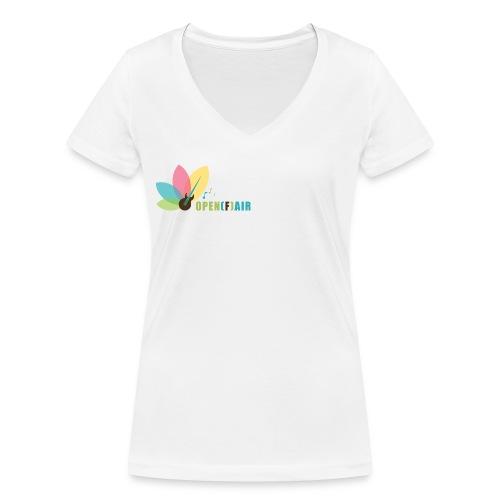 OpenFair_Logo_Web - Frauen Bio-T-Shirt mit V-Ausschnitt von Stanley & Stella