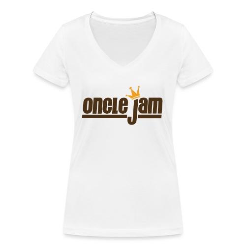 Oncle Jam horizontal brun - T-shirt bio col V Stanley & Stella Femme