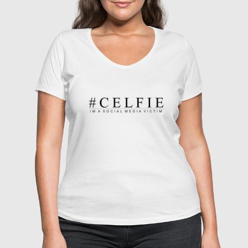CELFIE - Økologisk Stanley & Stella T-shirt med V-udskæring til damer