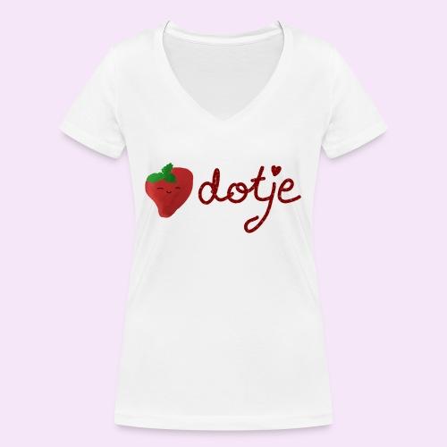 Baby aardbei Dotje - cute - Vrouwen bio T-shirt met V-hals van Stanley & Stella