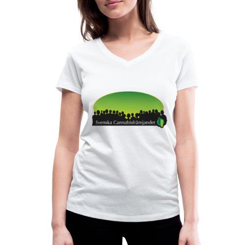 Svenska Cannabisfrämjandet - Ekologisk T-shirt med V-ringning dam från Stanley & Stella