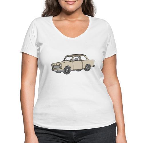 Trabi, Trabant (papyrus) - Frauen Bio-T-Shirt mit V-Ausschnitt von Stanley & Stella