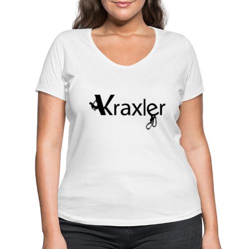 Kraxler - Frauen Bio-T-Shirt mit V-Ausschnitt von Stanley & Stella
