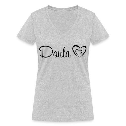 doula sydämet - Stanley & Stellan naisten v-aukkoinen luomu-T-paita