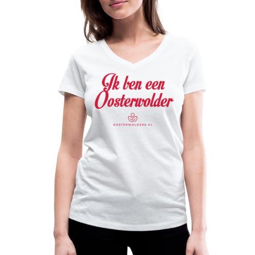 Ik ben een Oosterwolder - Vrouwen bio T-shirt met V-hals van Stanley & Stella