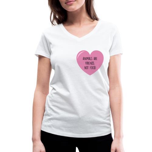 ANIMALS ARE FRIENDS - Frauen Bio-T-Shirt mit V-Ausschnitt von Stanley & Stella