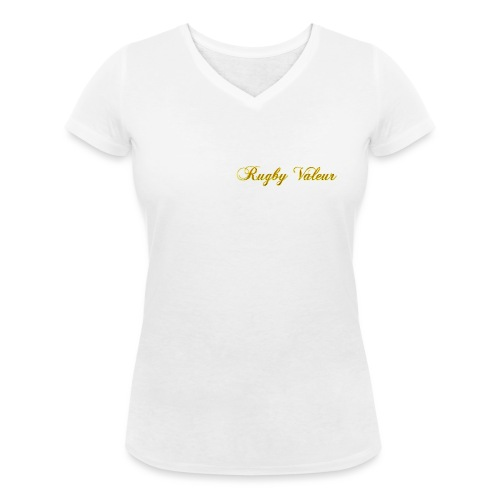 Rugby valeur 🏈 - T-shirt bio col V Stanley & Stella Femme