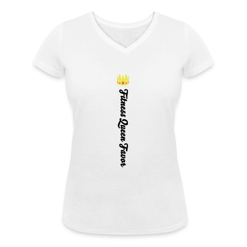 leggings label - Women's Organic V-Neck T-Shirt by Stanley & Stella