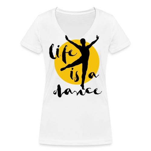 Ballett Tänzer - Frauen Bio-T-Shirt mit V-Ausschnitt von Stanley & Stella
