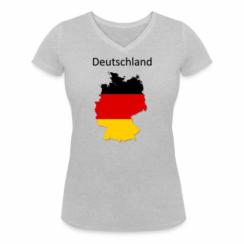 Deutschland Karte - Frauen Bio-T-Shirt mit V-Ausschnitt von Stanley & Stella
