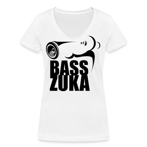 basszuka schwarz png - Frauen Bio-T-Shirt mit V-Ausschnitt von Stanley & Stella