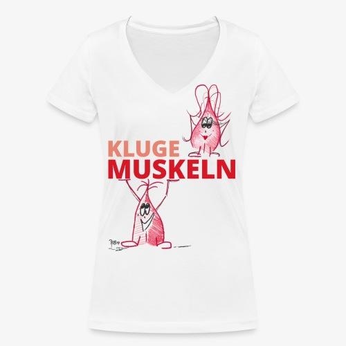 Kluge Muskeln - Frauen Bio-T-Shirt mit V-Ausschnitt von Stanley & Stella