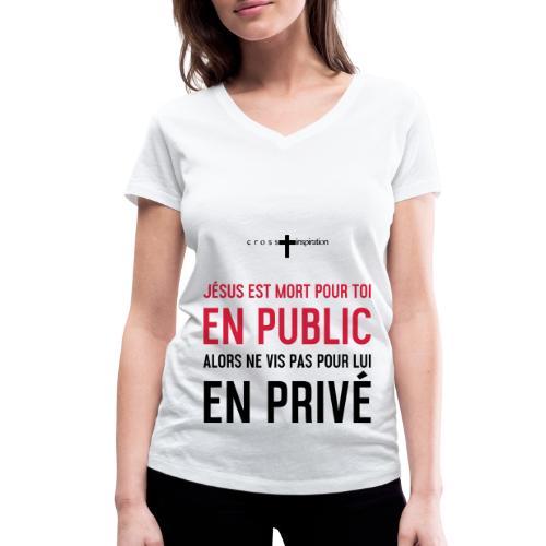 Public ou privé - T-shirt bio col V Stanley & Stella Femme