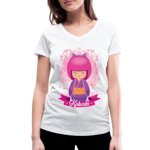 Kokeshi mod.3 - Frauen Bio-T-Shirt mit V-Ausschnitt von Stanley & Stella
