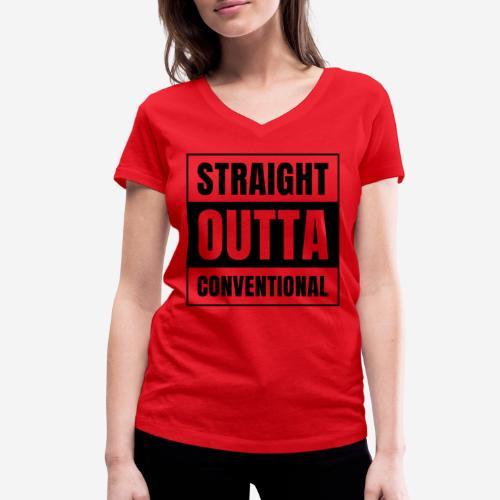 straight outta conventional - Frauen Bio-T-Shirt mit V-Ausschnitt von Stanley & Stella